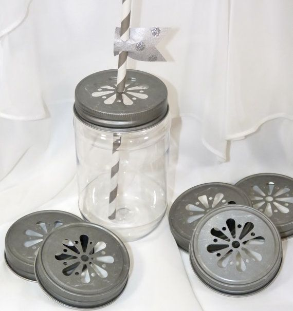 MASON JAR LIDS...Pewter Scalloped Daisy  Trendy Fun Vintage Inspired ... 15 Lids- purchased!