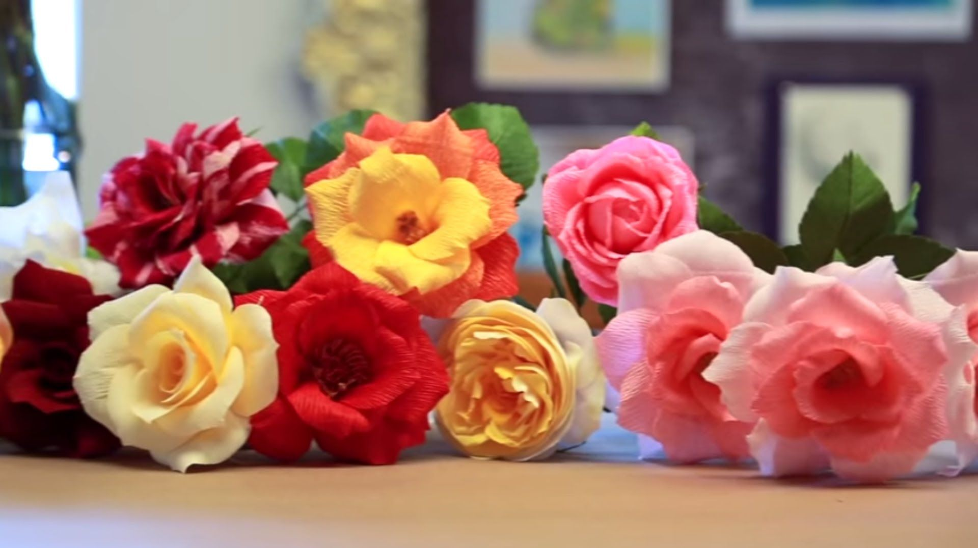 Learn How To Make Crepe Paper Roses From The Experts As Castle In