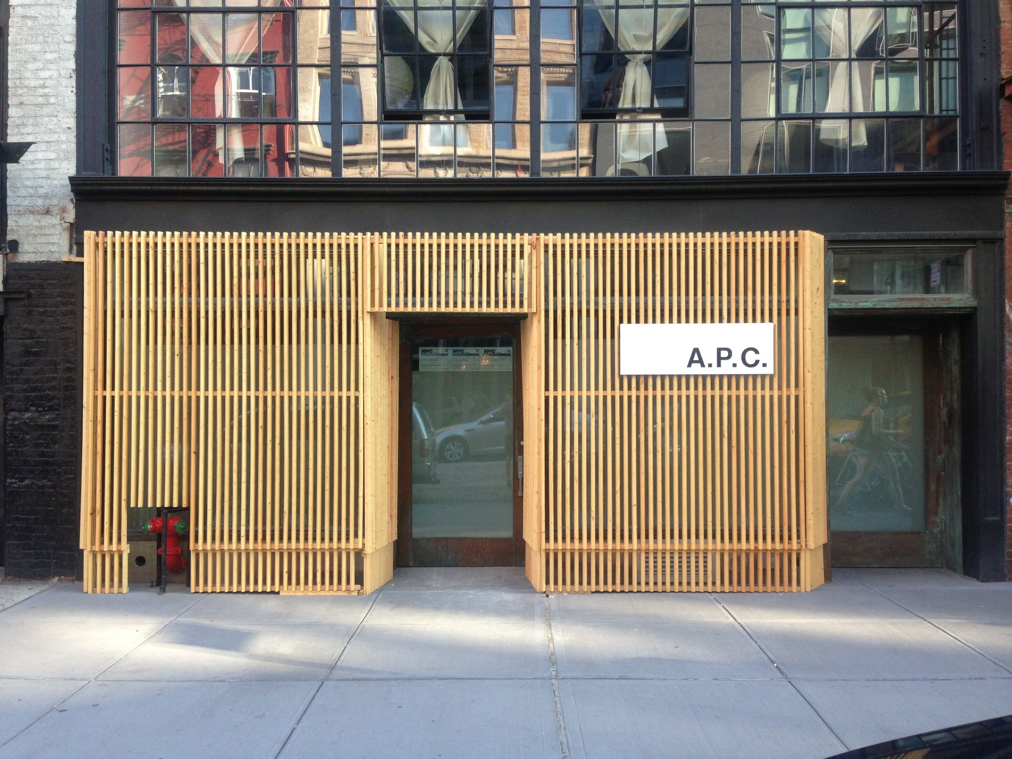 A P C  Bond Street | SA/DC | Bond street, Building facade, Garage doors