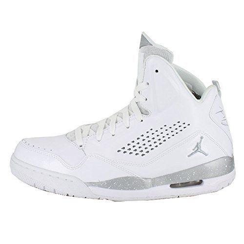 check out e2684 45901 NIKE JORDAN SC-3 FLIGHT MENS 13 White Metallic Silver 629877 100 NIB  130  NEW  NikeJordan  BasketballShoes