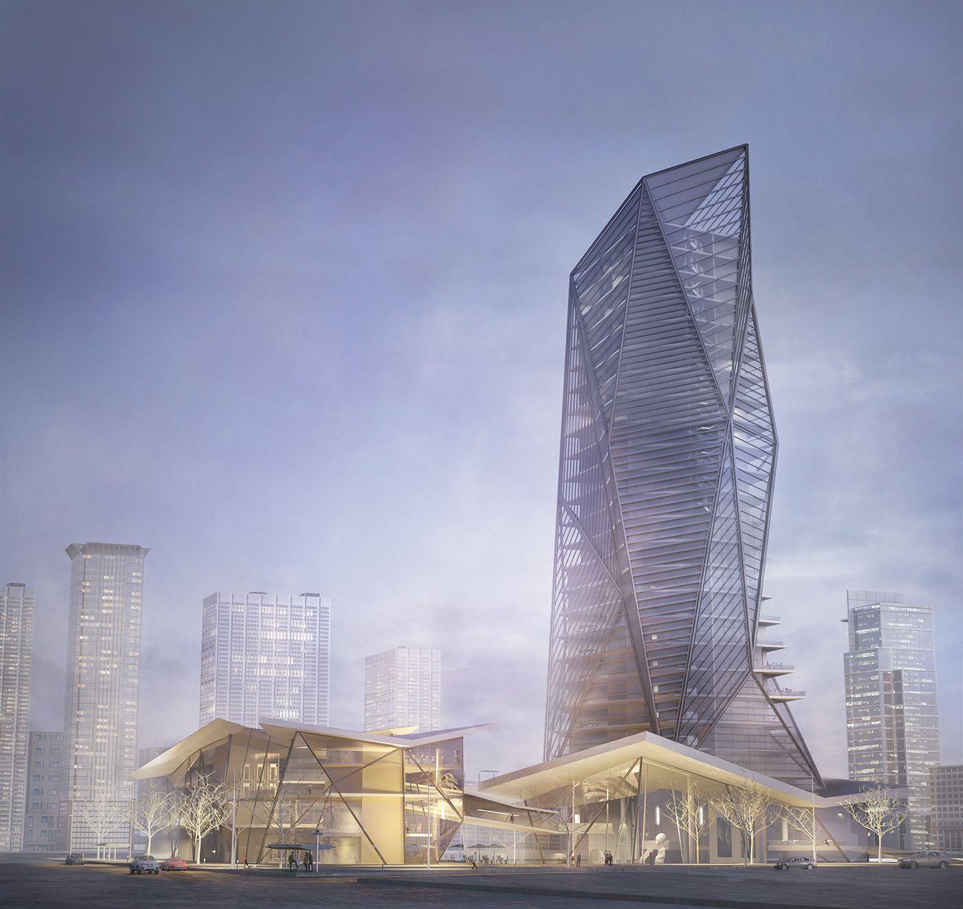 High Rise Archviz By Mohammed Allan Al Abdali Business District Amman Jordan