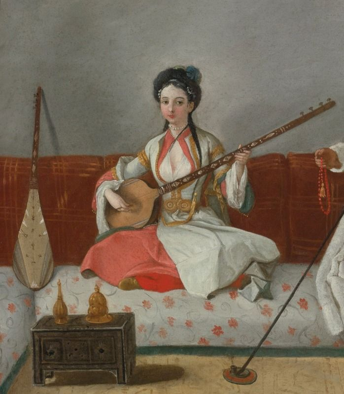 FOLLOWER OF JEAN-ÉTIENNE LIOTARD PORTRAIT OF HÉLÈNE GLAVANY AND MR. LEVETT SEATED ON A DIVAN: