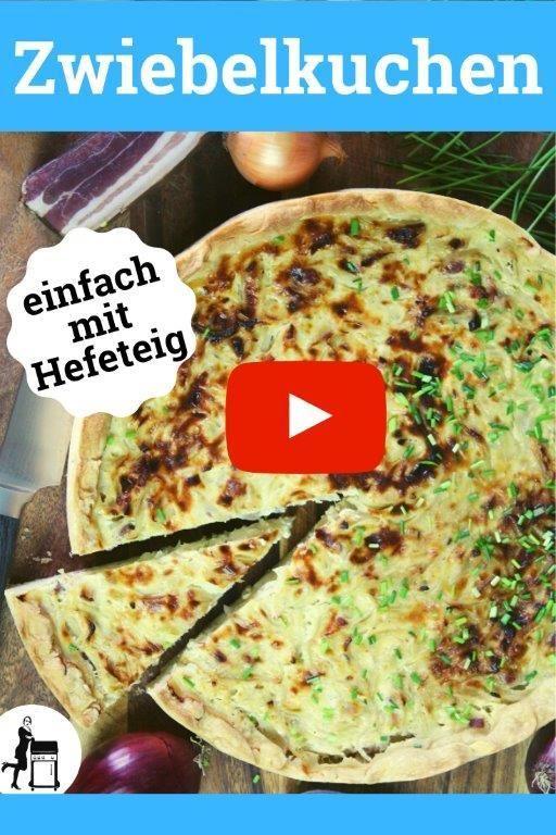 Dieses leckere Zwiebelkuchen Rezept mit Hefeteig klappt auf dem Blech genauso wie in der Backform. Es gelingt einfach und schnell. Vegetarier lassen einfach den Speck weg...  #zwiebeln #zwiebel #zwiebelkuchen #kuchen #backen #rezept #kuchenbacken #kuchenrezept #kuchenzeit #kuchengehtimmer #backenmachtglücklich #backenmitliebe #backenistliebe #teig #speck #herzhaft #kochen #hefeteig