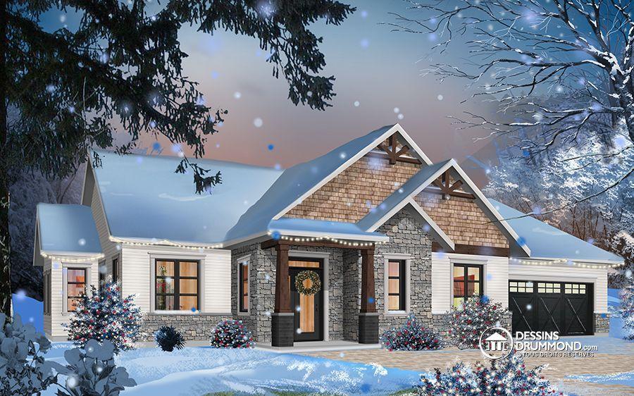 Détail du plan de Maison unifamiliale W3284-CJG1 idée maison
