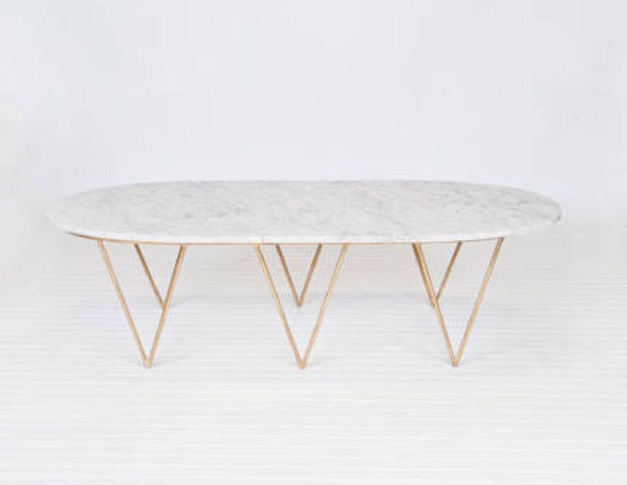 Marble Coffee Table Gold Triangle Legs Marble Top Coffee Table Coffee Table White Marble Coffee Table [ 961 x 1242 Pixel ]