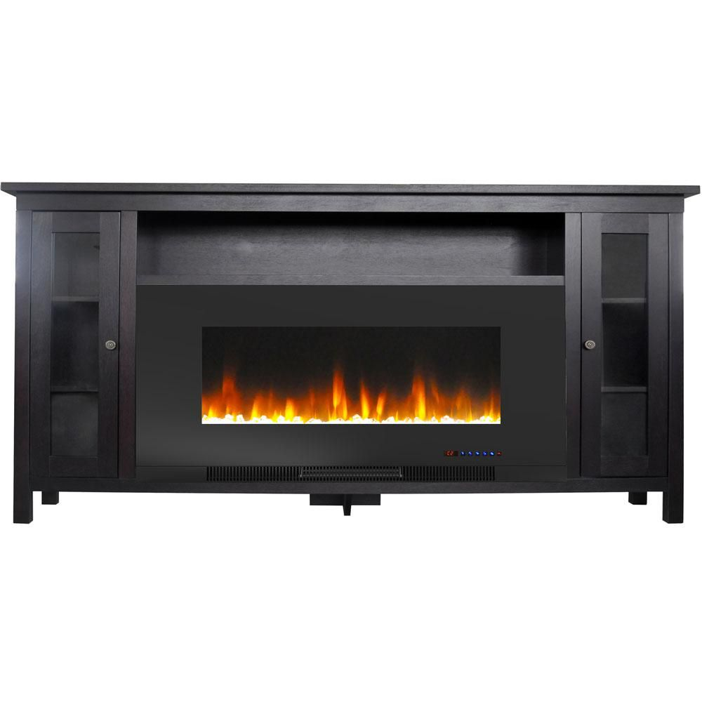 Cambridge Somerset 70 In Electric Fireplace Tv Stand In Dark