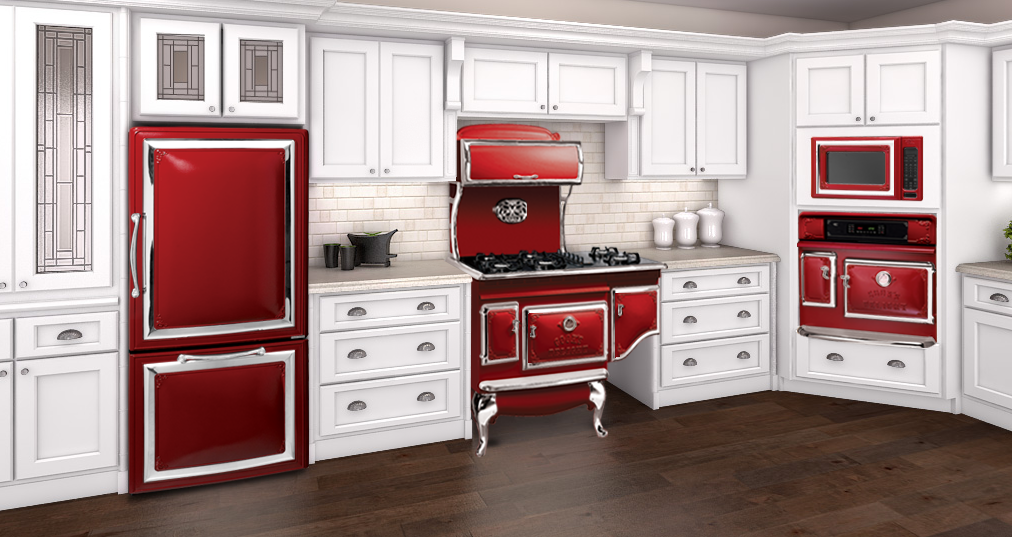 Kitchen Interesting Red Kitchen Appliances Sets Red From Set Of Kitchen  Appliances