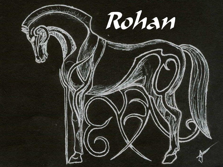 Rohan horse symbol by kememmotar on deviantart ink for Rohan design
