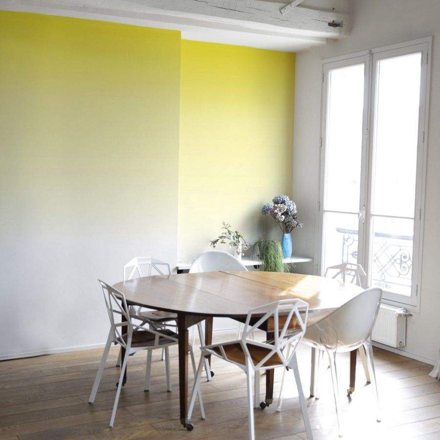 le papier sunset de la marque bien fait est un magnifique papier peint d grad aux couleurs. Black Bedroom Furniture Sets. Home Design Ideas
