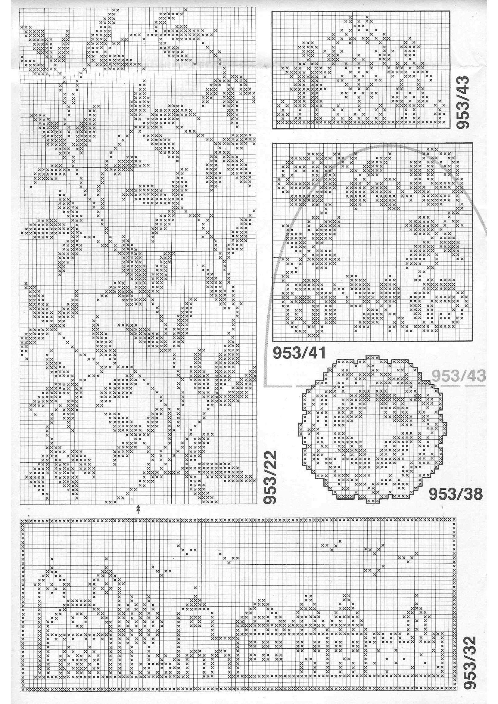Filet crochet simple european streetscape and nice leaf sprig filet crochet simple european streetscape and nice leaf sprig arrangement bankloansurffo Choice Image