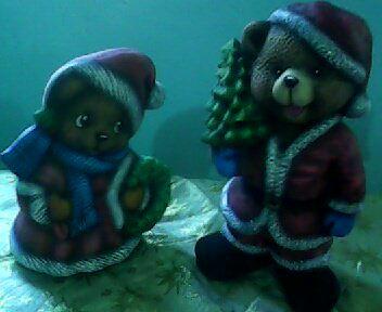 Sr y Sra. Claus en cerámica