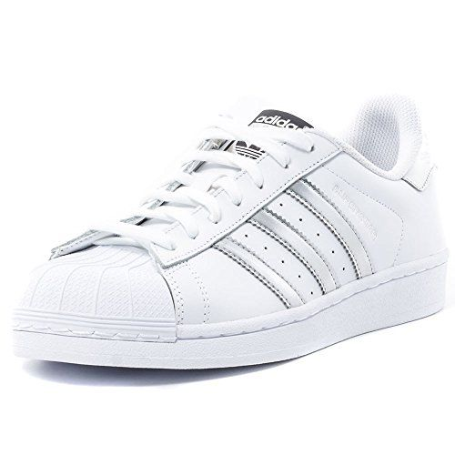 Adidas Superstar Mens Trainers White Silver New Shoes White Silver  Adidas UK