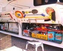 Great basement storage organization    RV & Camper Space