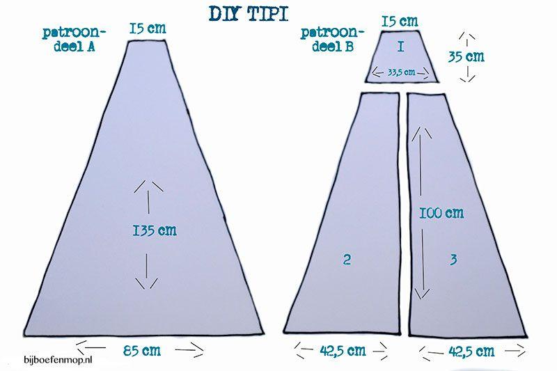 DIY tipi tent u2013 bij boef+mop  sc 1 st  Pinterest & DIY tipi tent u2013 bij boef+mop | Tipitent | Pinterest | Tipi and Tents