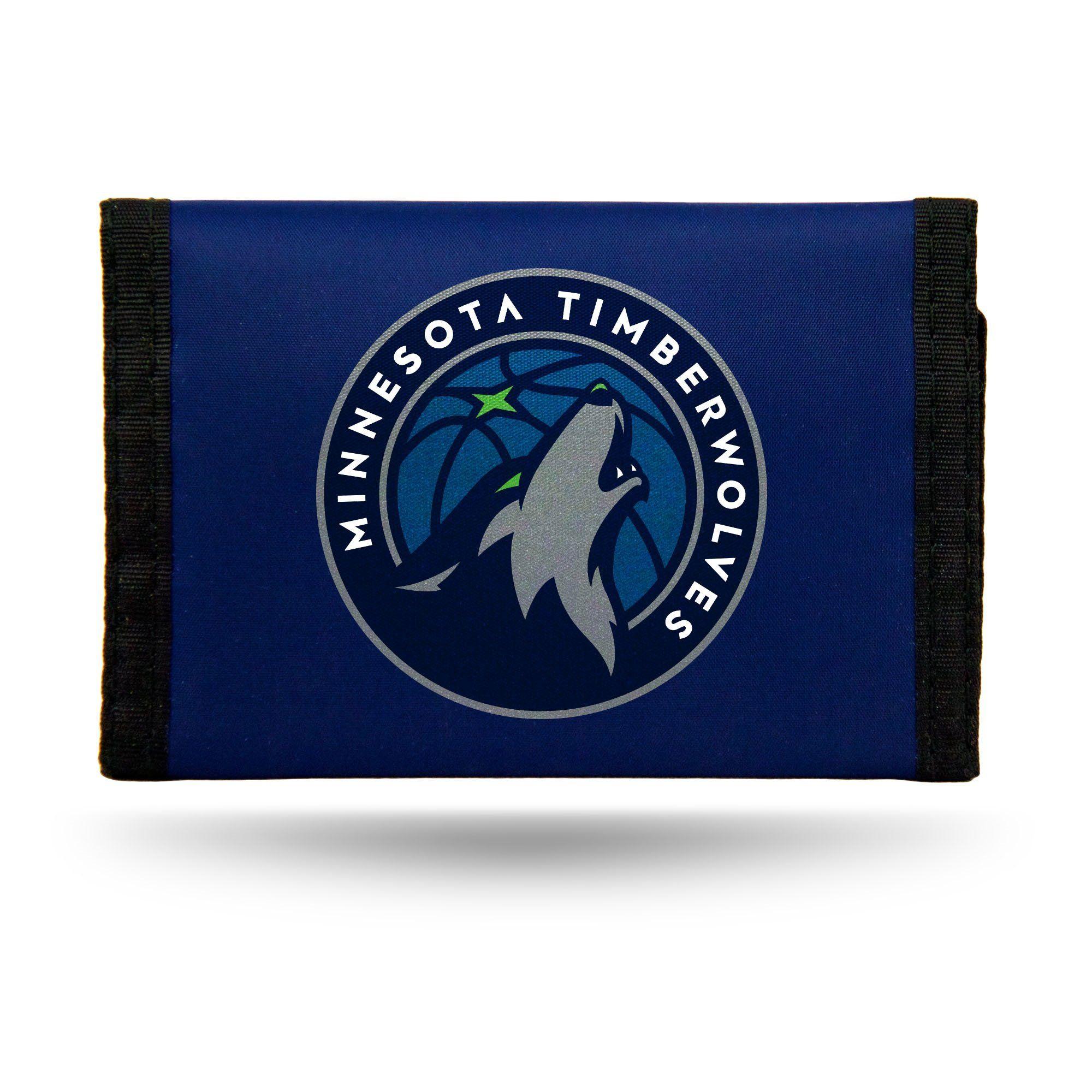 hot sale online e546a 9cb1c Minnesota Timberwolves Wallet Nylon Trifold   NBA Sports Fan ...