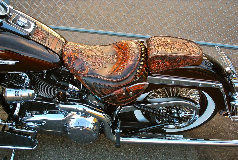 Original Custom Leather Company Bike Leathers Harley Bikes Harley Softail