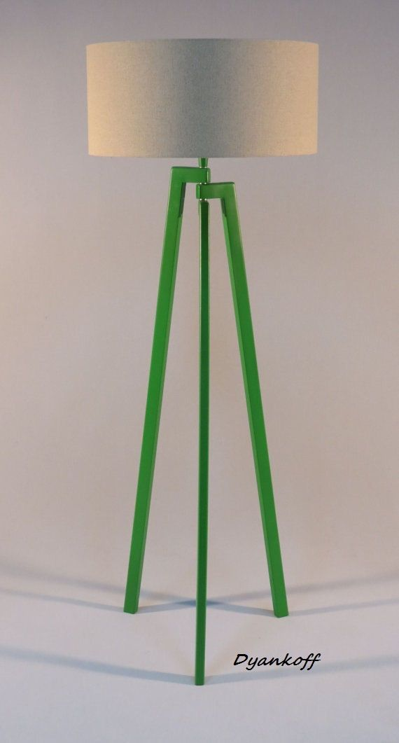 handmade tripod floor lamp unique wooden stand by dyankoffshop