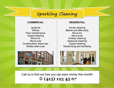 Free Downloadable Cleaning Service Flyers  Download Free House