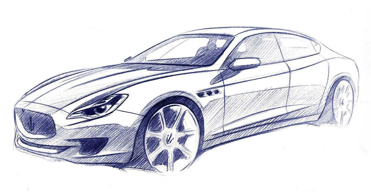 maseratie-quatroporte-exterior-sketch.jpg 1,280×663 pixels | Sketch ...