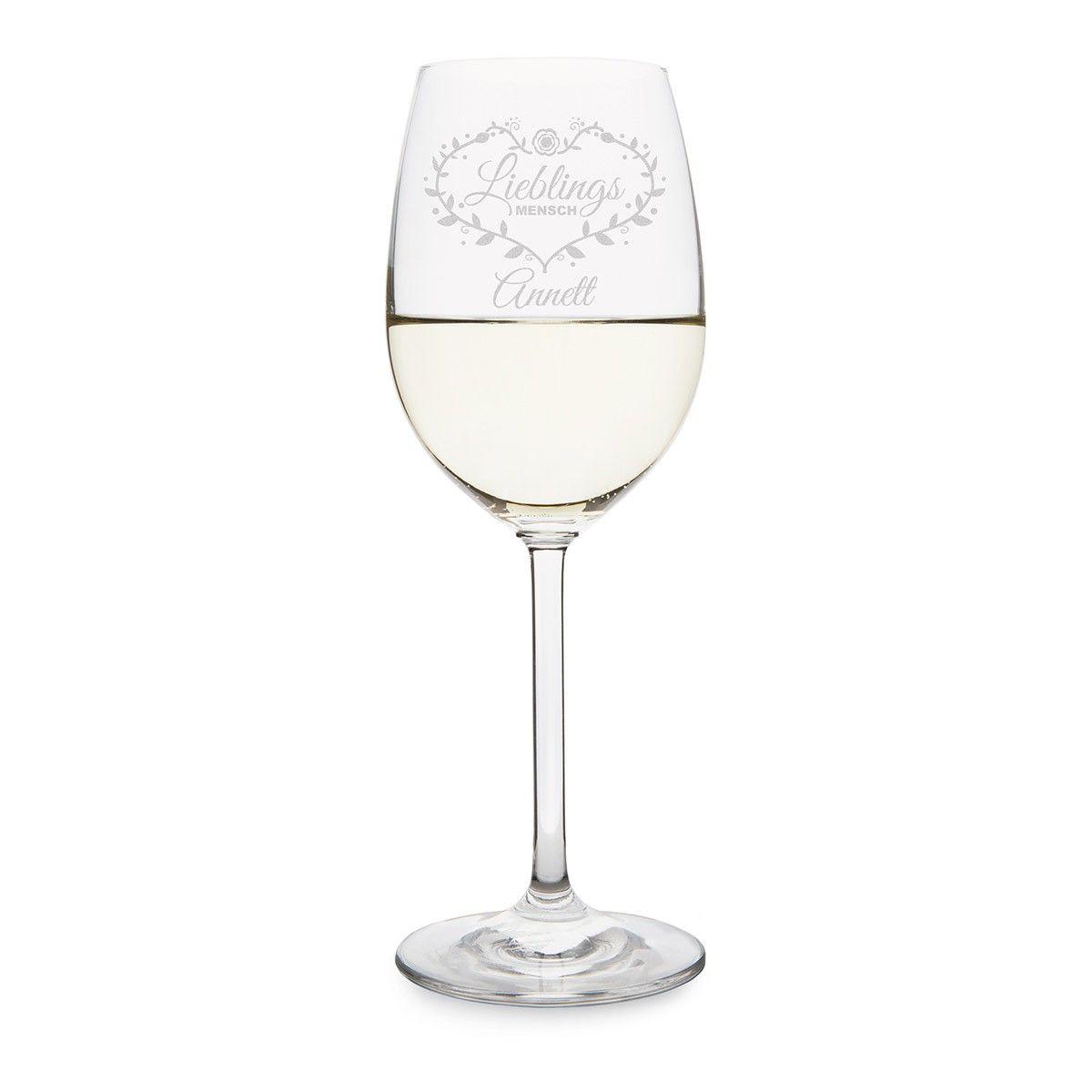 Lieblingsmensch Leonardo Weinglas mit individueller Gravur Weißweinglas