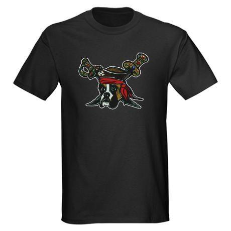 Pirate Boxer Black T-Shirt, $27.00 on cafepress.com