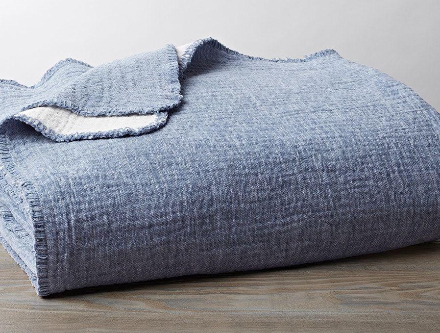 Coyuchi Cozy Cotton Organic Baby Blanket Moonlight Blue Cotton Blankets Cotton Baby Blankets Blanket