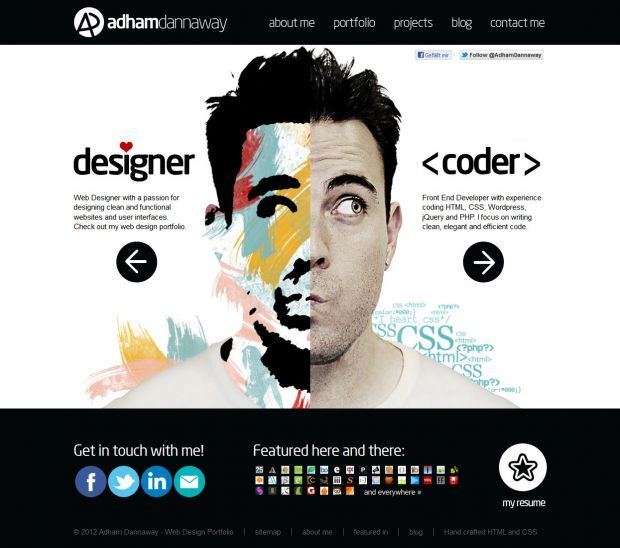 front end developer website inspiration - Google zoeken ...