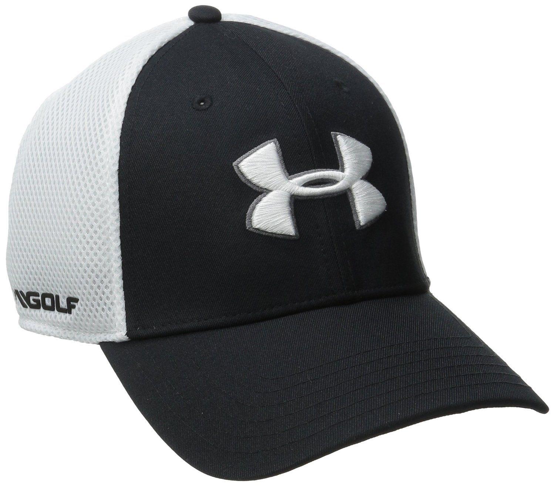 1995b8281cf Amazon.com   Under Armour Men s Golf Mesh Stretch 2.0 Cap   Sports    Outdoors