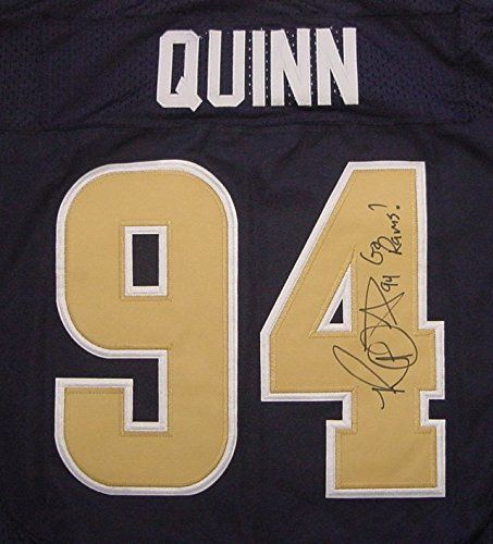Robert Quinn St. Louis Rams Autographed Blue #94 Jersey