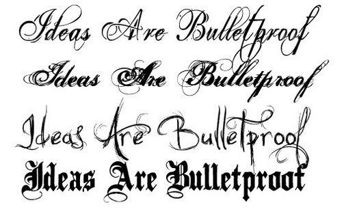 skrifttyper tattoo
