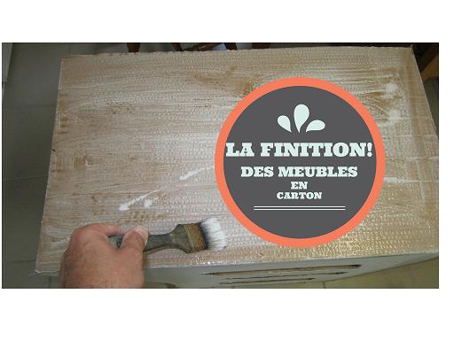 Finition Des Meubles En Carton Meuble En Carton Mobilier