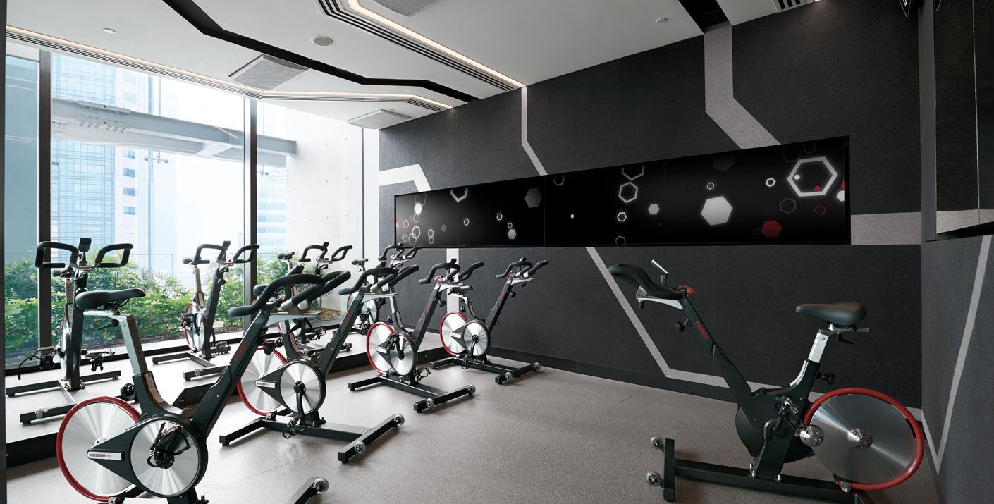 Gravity Signature Health Club in Singapore designed by Studio HBA.