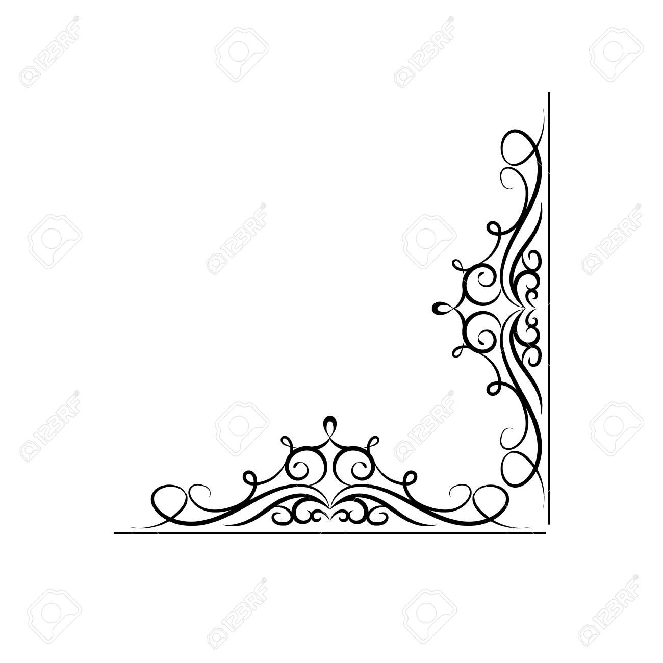 Vintage Vector Swirl Corner On White Background Illustration Ad Swirl Vector Vintage Corner Illustratio In 2020 Graphic Design Art Design Art Illustration