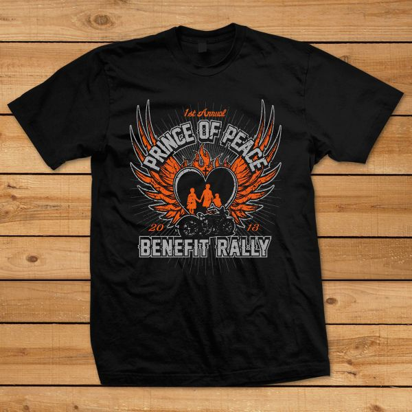 Prince of Peace Benefit Rally Motorcycle Ride T-Shirt