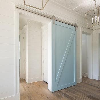 Powder Blue Barn Door On Rails Bathrooms Pinterest Barn Doors