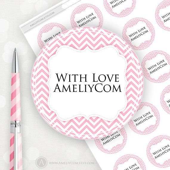 Editable printable labels stickers tags pink chevron custom editable printable labels stickers tags pink chevron custom mason jar labels gift pronofoot35fo Images