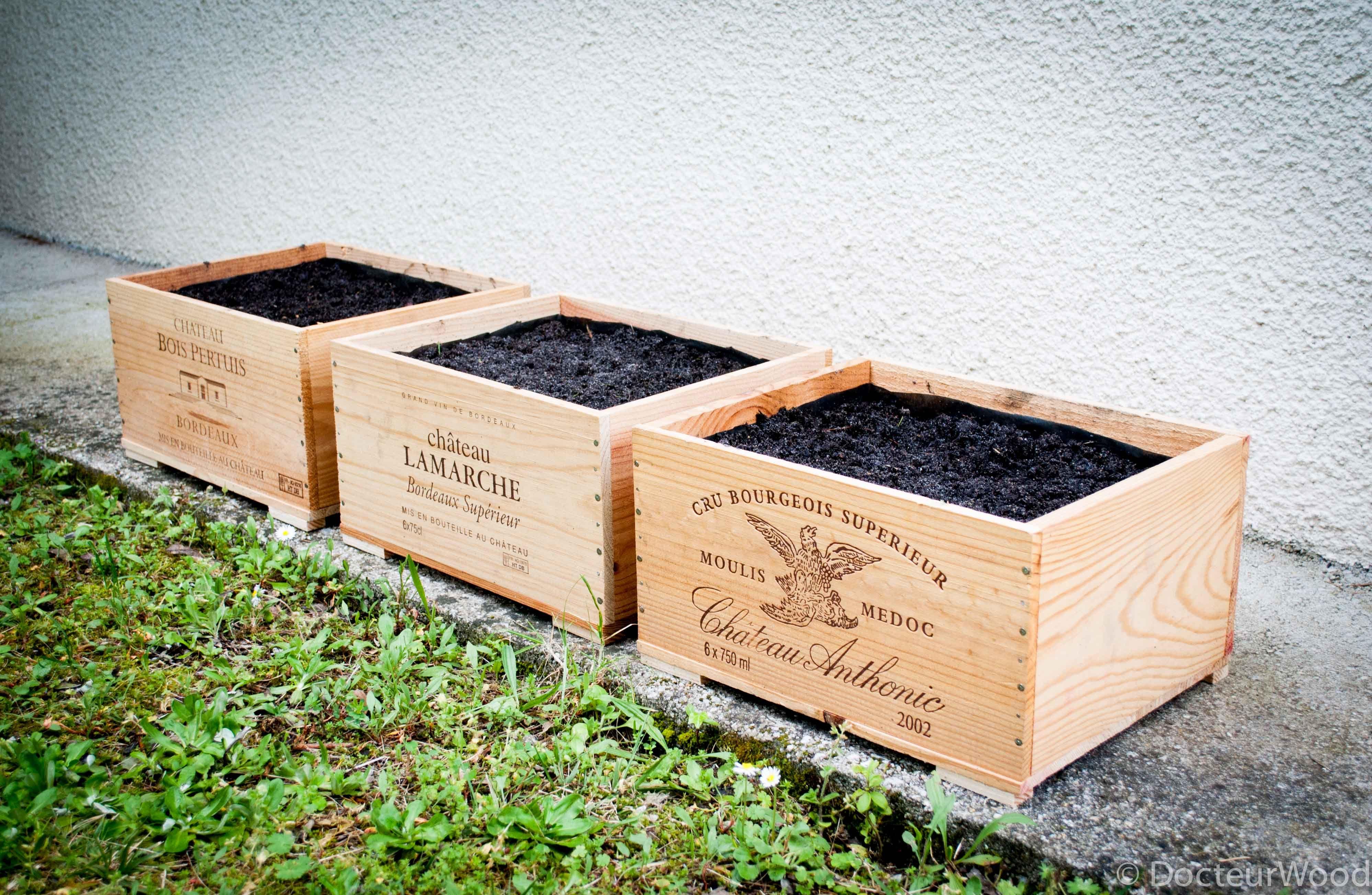 Planter Dans Une Caisse En Bois diy-potager-caisses-vin | diy | garden, diy, wood