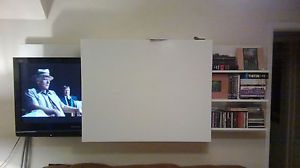 Friel Tv Meubel.Ikea Friel Sliding Lcd Plasma Tv Cabinet Hides Tv With Slim Door