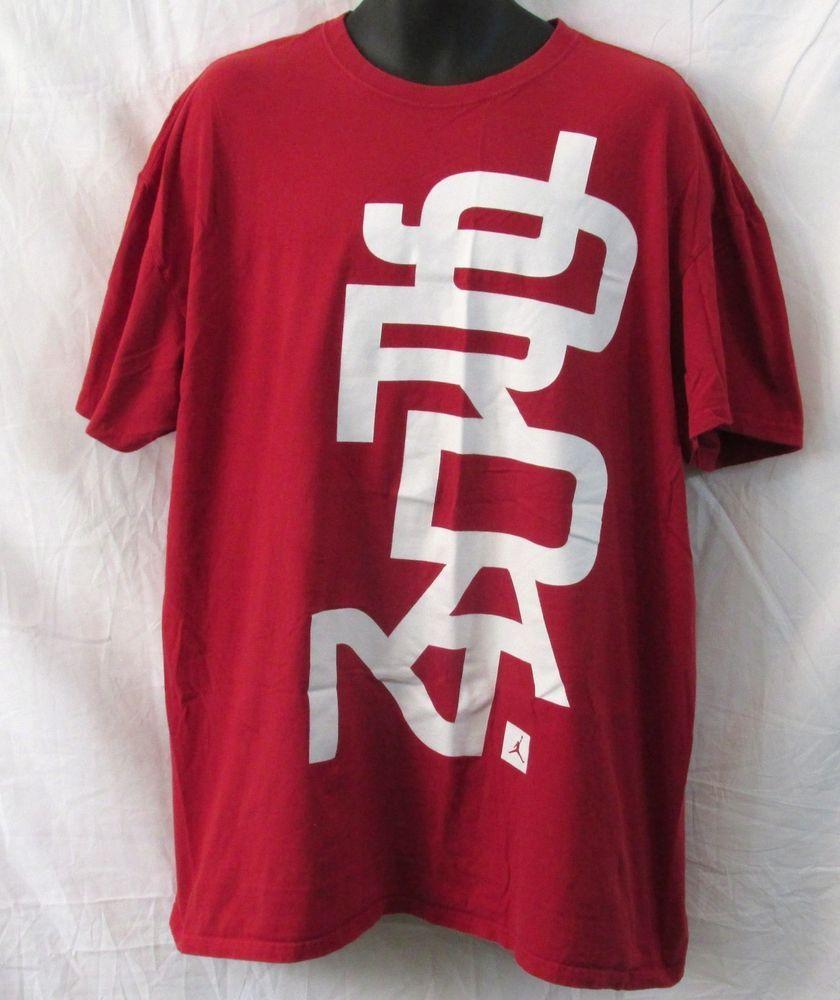8057947fc0eb7c Air Jordan by Nike Red and White Men s Graphic T-Shirt 3XL Big   Tall