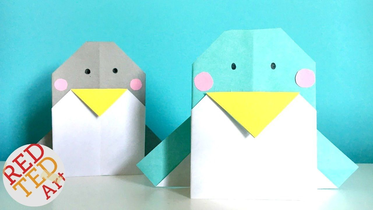 easy origami penguin  perfect greeting card too  youtube
