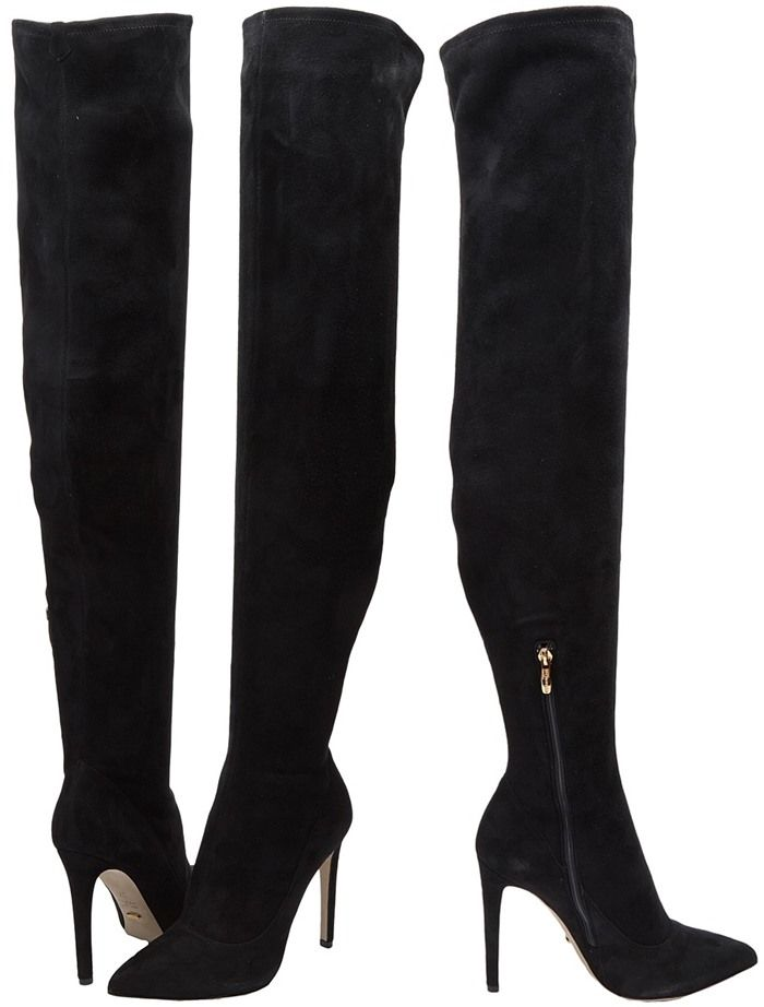 Sergio Rossi over-the-knee heeled boots 2014 unisex online free shipping best prices Manchester for sale SFFX6
