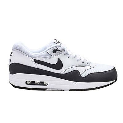 Nike Air Max 1 Essential Mens 537383 126 White Grey Black