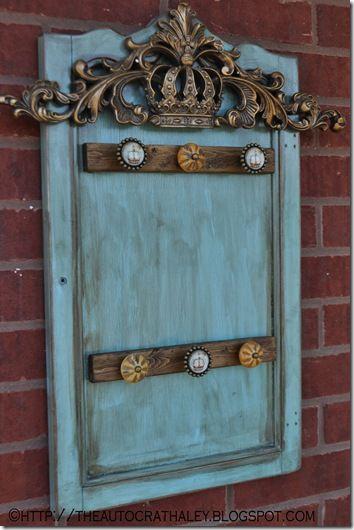 The Autocrat Cabinet Door Turned Necklace Holder Door Crafts Cabinet Door Crafts Upcycle Door