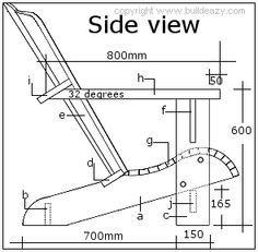 adirondack chair side elevation plan | adirondack chair, Garten ideen