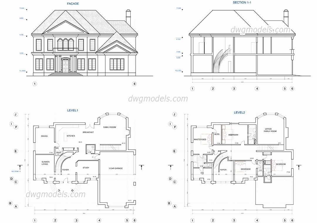 Free Autocad House Plans Dwg New Free Autocad House Plans ...
