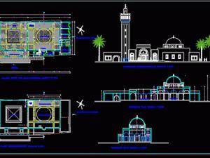 mosquée dwg
