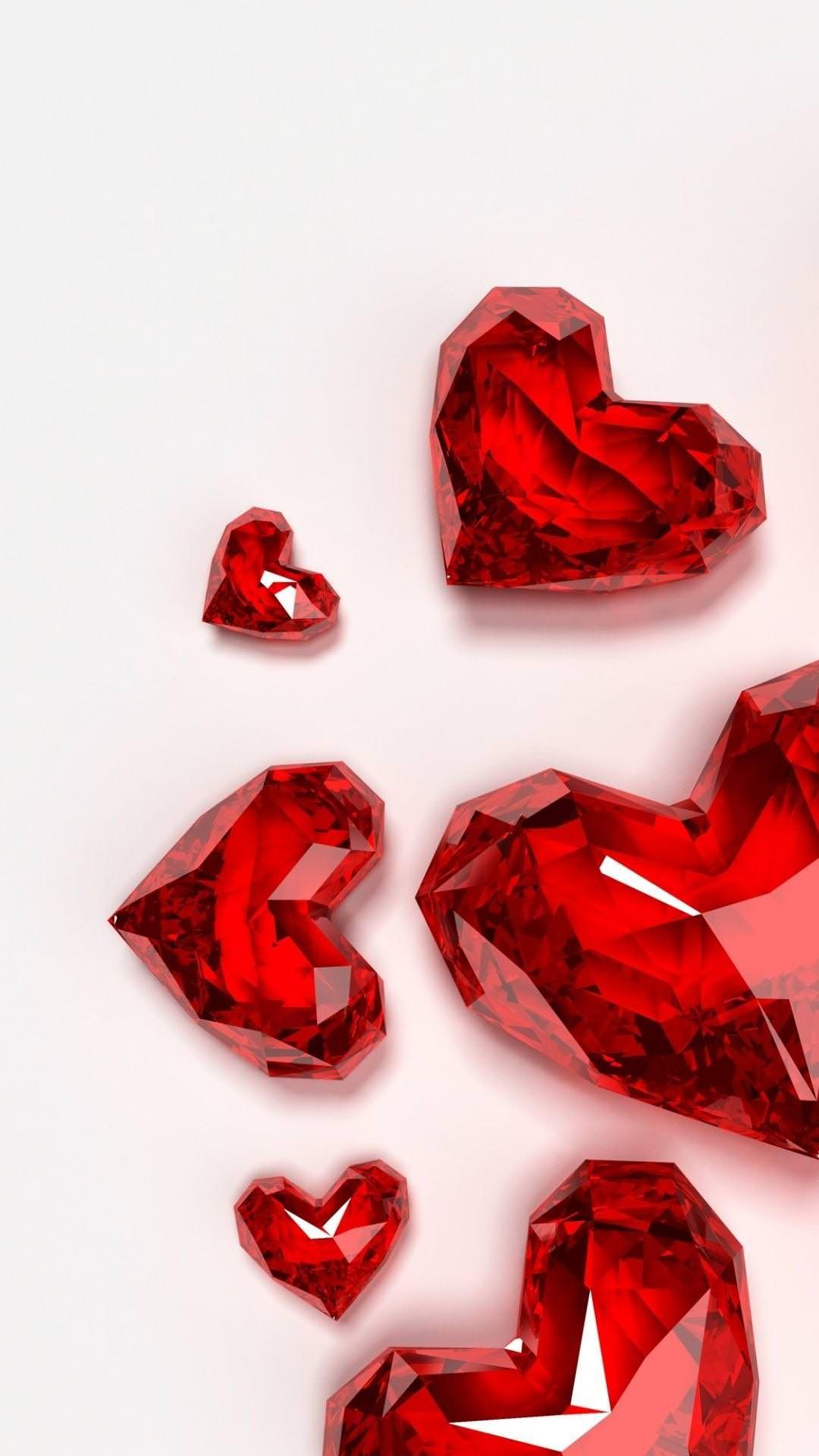 赤いガラスのハート Iphone6 Plus壁紙 Wallpaperbox 2020