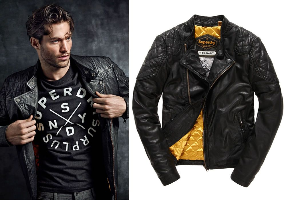 35b2d34a3 Superdry Endurance Indy Leather Jacket | Fall Fashion | Jackets ...