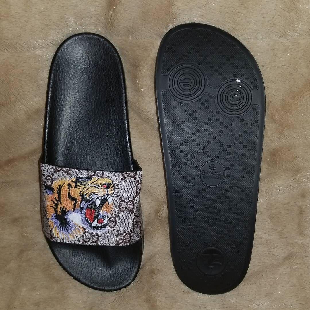2aac987c2 GUCCI TIGER FLIP FLOPS $100 | BELOVEDMERCH | Sandals, Flip flops, Shoes