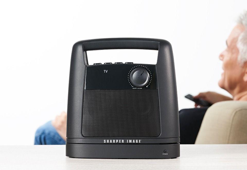 The Wireless TV Speaker lets you enjoy stereo TV sound